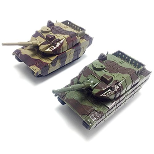 Shoresu Model for Kids, Green Army Tank Cannon Model Toy Military Vehicles Plastic Toy Soldiers - Color Randomly