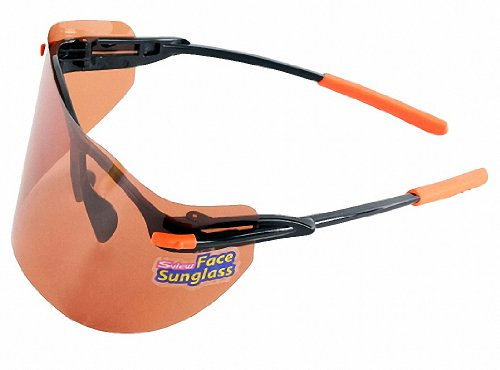 S-view Face Brown Film Sunglass Sunscreens Tanning Products Outdoor Gardening Sports Anti-uv Anti-fog Sunglass Eye Solar Face Protection Sunglass Professional Face Mask Sun Visor Face Shields (Small) by Sview