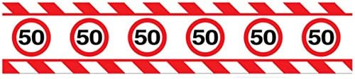 15/m Nastro segnaletico decorativo per festeggiare i 50/anni decorazione per le feste di compleanno lunghezza