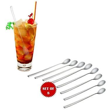 8 1/2  ICED TEA SPOONS - SET OF 8