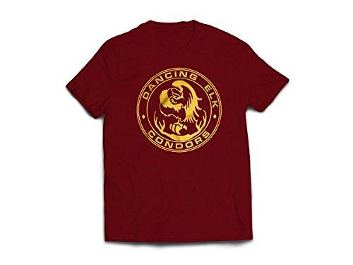 Juno Dancing Elk Condors Maroon T-shirt Tee
