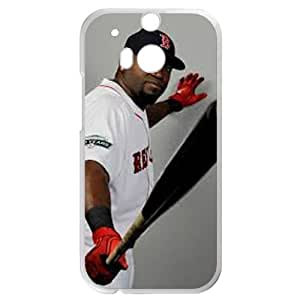 MLB&HTC One M8 White Boston Red Sox Gift Holiday Christmas Gifts cell phone cases clear phone cases protectivefashion cell phone cases HABC605585294