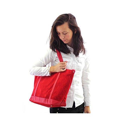 Sac Cuir Noir étudiante Sac 43 33 II velours Olivia Cuir CM Rouge PARME X shopping dqOxFwaZ