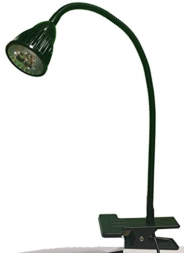 Item4ever® Large led-3 table clip 3W Sewing & Tasking Led Light 110v + C-clamp, Gooseneck Lamp, Bendable Steel by item4ever