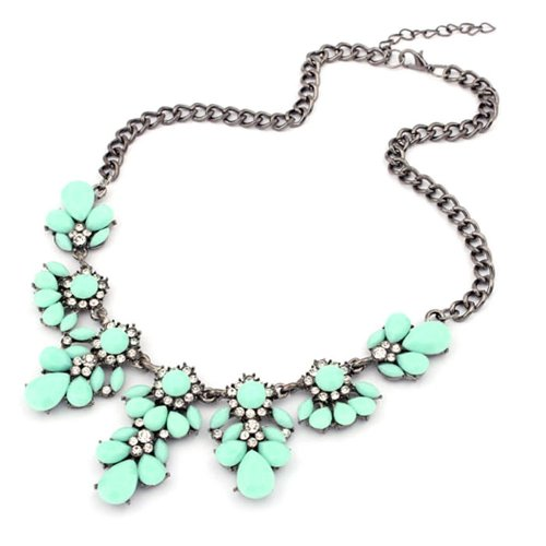Tonsee Women Fresh Wild Fashion Delicate Clavicle Necklace (Light Green)