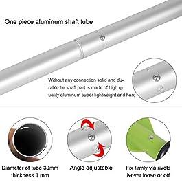 HEIMUNI Pagaie Double Aluminium 222cm, Pagaies de Canoe Double Démontable Légère Rames Bateau pour Canoë Kayak Bateau…