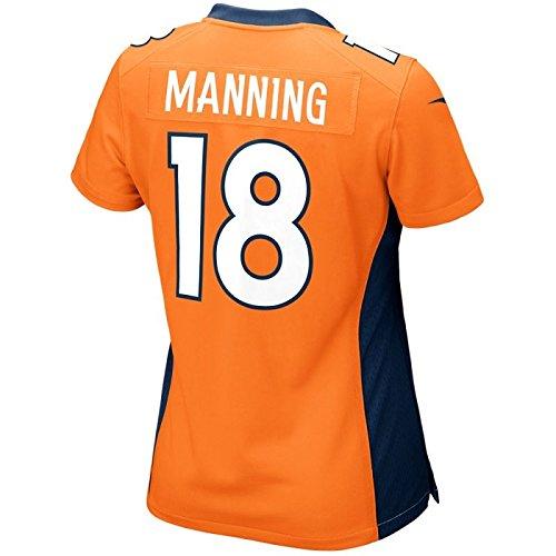 Manning Game Jersey - Peyton Manning Denver Broncos Nike Women's Game Jersey - Orange (Large)