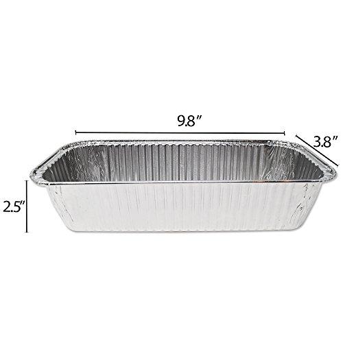 Fig & Leaf (420 Pack) Weber Grills Compatible 6417 Drip Pans l Size 11'' x 5'' x 2.5'' l Aluminum Foil l 44 Gauge l Fit Genesis II LX 400 600 Series All-Purpose Summit 400 600 Gold Platinum Gas Grill by Fig & Leaf (Image #1)