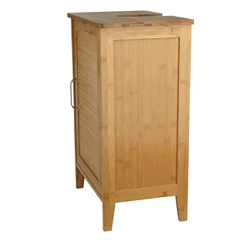 Waschtischunterschrank Bambus braun 27 x 40 x 60 cm | Aussparung für ...