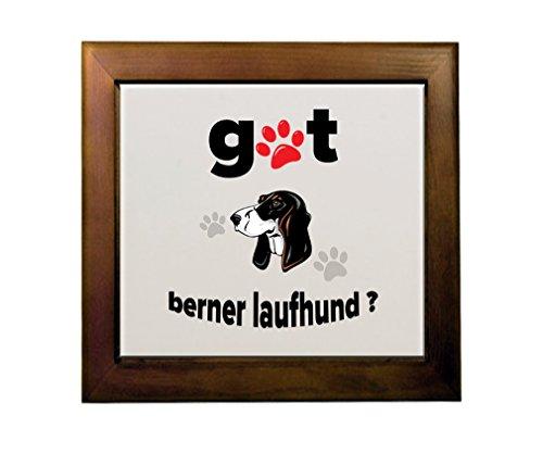 Price comparison product image BERNER LAUFHUND DOG Got Ceramic Tile in Wood Frame