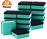 30 Pack Magnetic Whiteboard Eraser for School Classroom, Office, Home - Buytra Dry Erase Erasers Cleaner for Dry-erase White Board, 1.97 x 1.97'', Square Shape (Green)