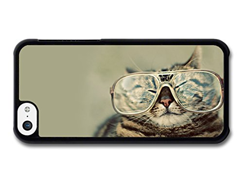 Funny Fat Cat With Glasses coque pour iPhone 5C