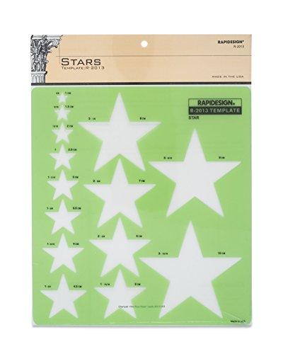 Medium Star - Rapidesign Stars Template, 1 Each (R2013)