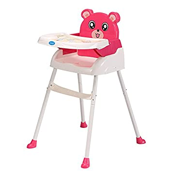 Amazon.com : 4-in-1 Feeding Baby High Chair Convertible Table Seat Booster Highchair Toddler (Pink)