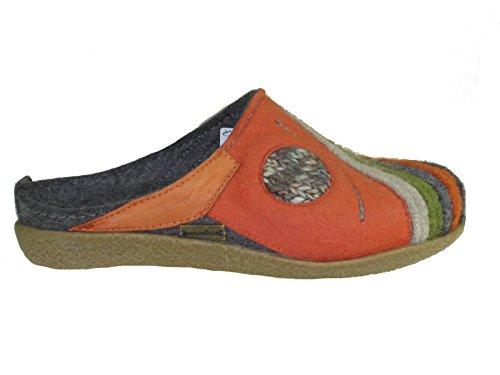 Haflinger Schuhe Damen Herren Hausschuhe Pantoffeln Wolle Blizzard Arte 738013 (04) anthrazit