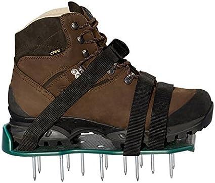 UPP® Zapatos aireadores de césped I suelas escarificadoras de césped, airea el césped del jardín con facilidad I bases ajustables con clavos para zapatos, aireación en patio y jardín
