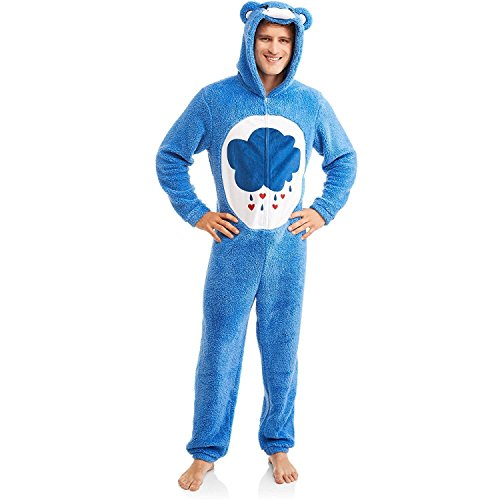 Costumes Carebear (Care Bear Grumpy Men's Union Suit One Piece Pajama (XL)