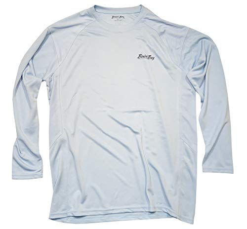 7e22564eb Bimini Bay Outfitters Cabo Crew III Long Sleeve Shirt with BloodGuard (Blue  Mist, X-Large)