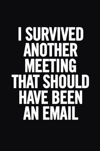 I Survived Another Meeting that Should Have Been an Email: Ruled 6x9 Funny Notebook, Meme Journal, 100 pages, perfect for journaling, to write down notes at meetings