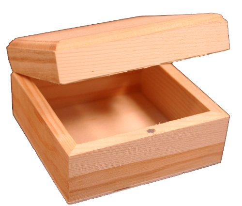 (Creative Hobbies Mini Wood Craft Box 3.5 Inch, Unfinished, Hinged Lid and Magnetic Closure)