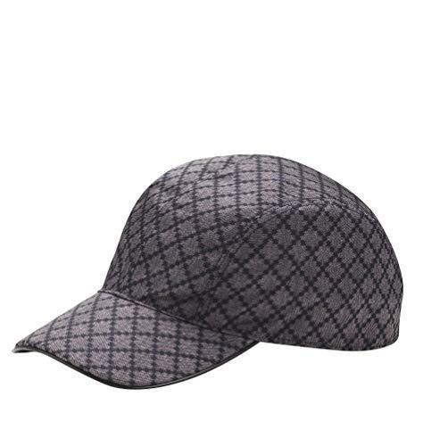 Gucci Unisex Diamante Blue Nylon Baseball Hat with Trademark Logo 268897 4079 (XL)
