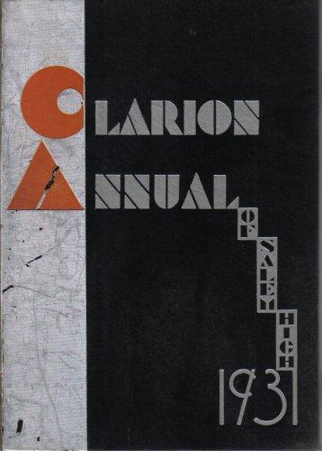 1931 Clarion Annual of Salem High School Yearbook, Salem, Oregon (Hardcover)