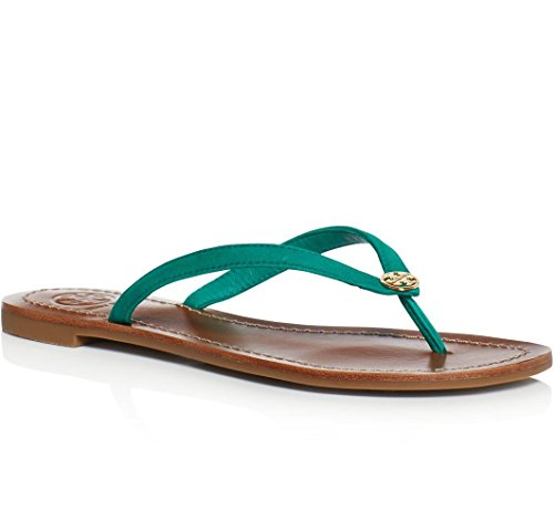 Tory Burch Terra Thong Flip Flops Leather Thong Sandals (9, Bright - Tory Burch Sale Clearance