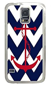 Anchor Red Navy Custom Samsung Galaxy S5 Case Back Cover, Snap-on Shell Case Polycarbonate PC Plastic Hard Case white