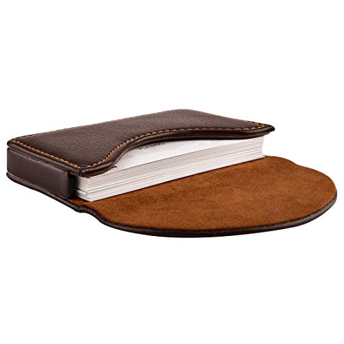 MaxGear Leather Business Card Holder Case for Men or Women
