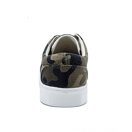 Unisex Camuflaje Verde de Zapatillas del Adulto ejército JEDVOO clásicas ztBIfI