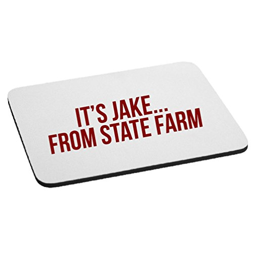 Funny Its Jake From State Farm Parody Mouse Pad   Red