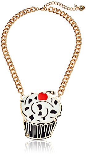 "Betsey Johnson ""Photoetch"" Layered Cut Out Cupcake Necklace"