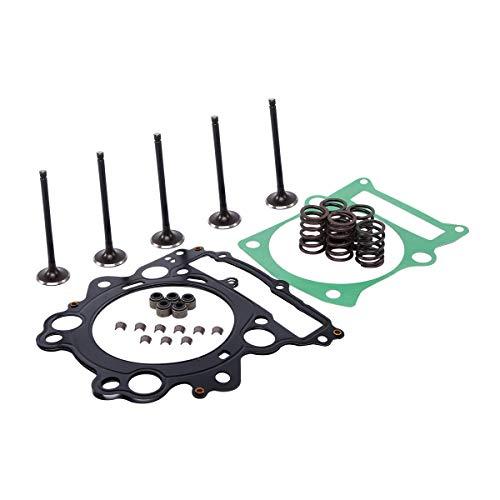 XMT-MOTO Engine Cylinder Head Intake,Exhaust Valve,Head Top End Gasket Spring Kit for YAMAHA Raptor 660R YFM660R 4X4 ()