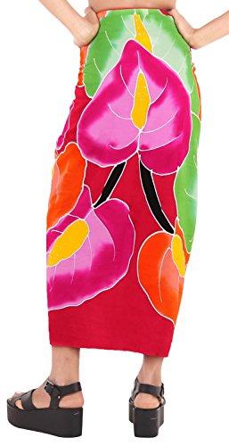ropa de playa envoltura de baño del juego de falda pareo complejo para mujer del traje de baño de la piscina pareo desgaste traje de baño desgaste encubrir Rojo