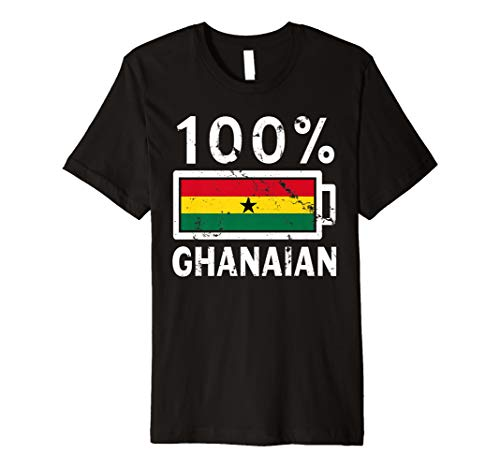 Ghana Flag T-Shirt | 100% Ghanaian Battery Power Tee