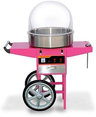 Algodonera con carro con cúpula incluida. Máquina de algodón de azúcar con carro. Algodón de azúcar para ferias y fiestas.: Amazon.es: Industria, empresas y ciencia