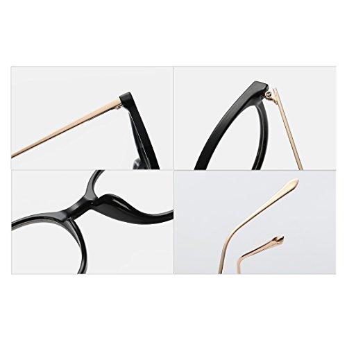 femmes myopes cadre lentilles Motif verres en hommes plein Léopard Retro en Aiweijia cadre métal mode lunettes résine qRz8Iw