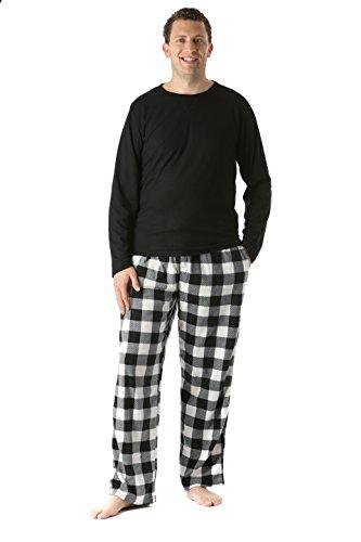 #followme 45910-1B-XXL Polar Fleece Pajama Pants Set for Men/Sleepwear / PJs (Pajamas Pants Shirt)