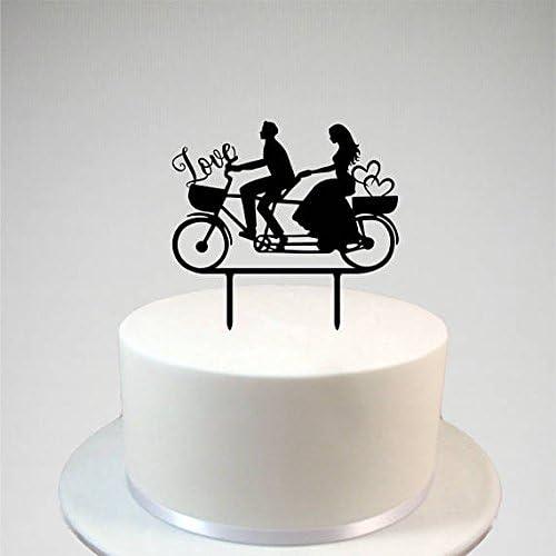 uniquepig Decoración para tarta de boda para novia y novio en bicicleta, adornos para tarta de boda, regalos únicos para boda: Amazon.es: Hogar