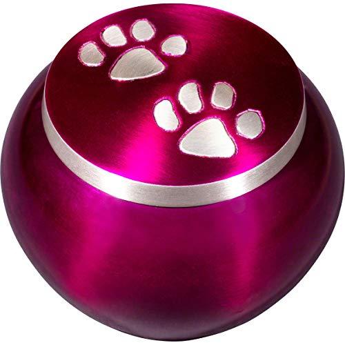 Best Friend Services Mia Paws Series Pet Urn (Deep Purple, Medium, Pewter)