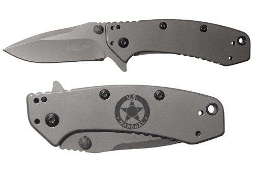 Kershaw Cryo 2.75 Drop-Point Spring Assisted Black Wash 1555TI US Marshal - Marshal Black
