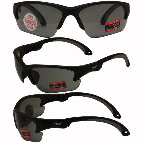 Global Vision Klick Safety Sunglasses Black Frame Smoke - Klick Glasses