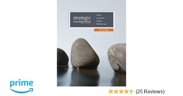 Amazon com: Strategic Management: Text and Cases (9780077862527