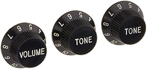 WD Music KB240 W.D. Strat Style Speed Knob Set Kb240 - Black