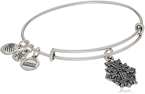Alex and Ani Armenian Cross IV Rafaelian Silver Bangle Bracelet