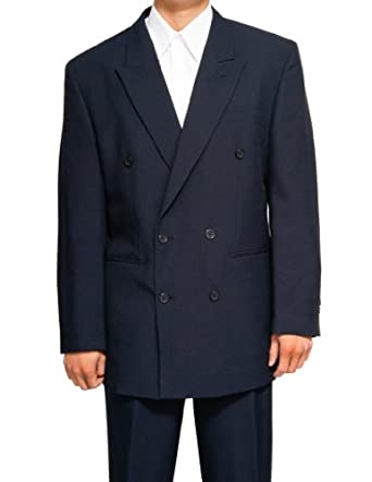 New Double Breasted (DB) Navy Blue Men's Business Dress Suit at ...