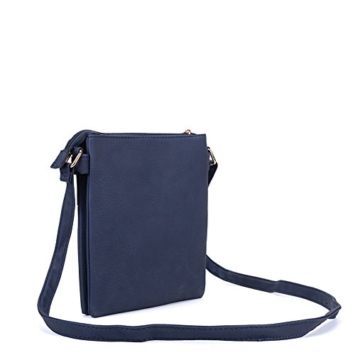 YOUNG Body Leather zipped Navy Multiple High Cross PU pockets SALLY Fashion Bag Women Quality RFqWSwd