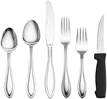 American Bead 102-Piece Flatware Set with Serveware