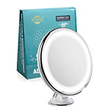 ACEVIVI Lighted Makeup Mirror, 7x Magnifying Fogless Vanity Mirror Shaving Mirror with 15 Min Auto Turn Off, 360°Swivel Cordless and Compact 6 Inch Extension for Grooming,Travel,Bathroom,Gym,Spa