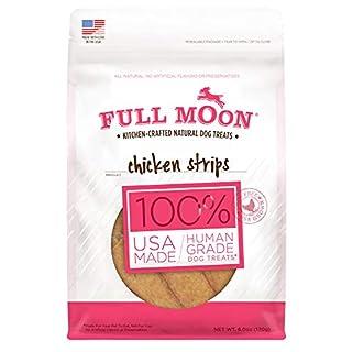 Full Moon All Natural Human Grade Dog Treats, Chicken Strips, 6 Ounce